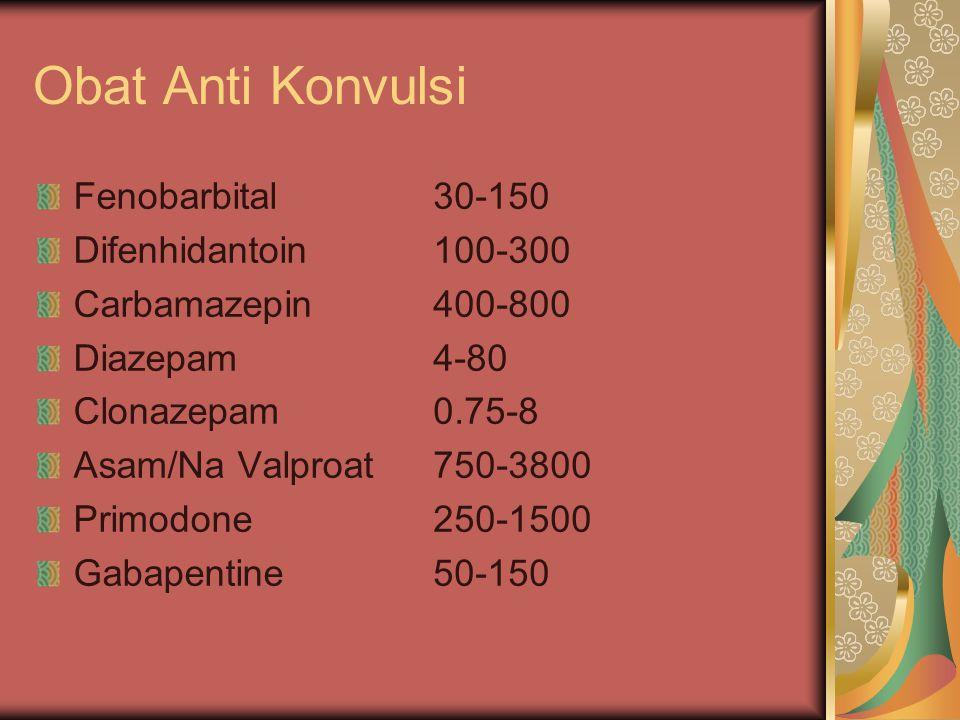 Obat Anti Konvulsi Fenobarbital Difenhidantoin Carbamazepin Diazepam