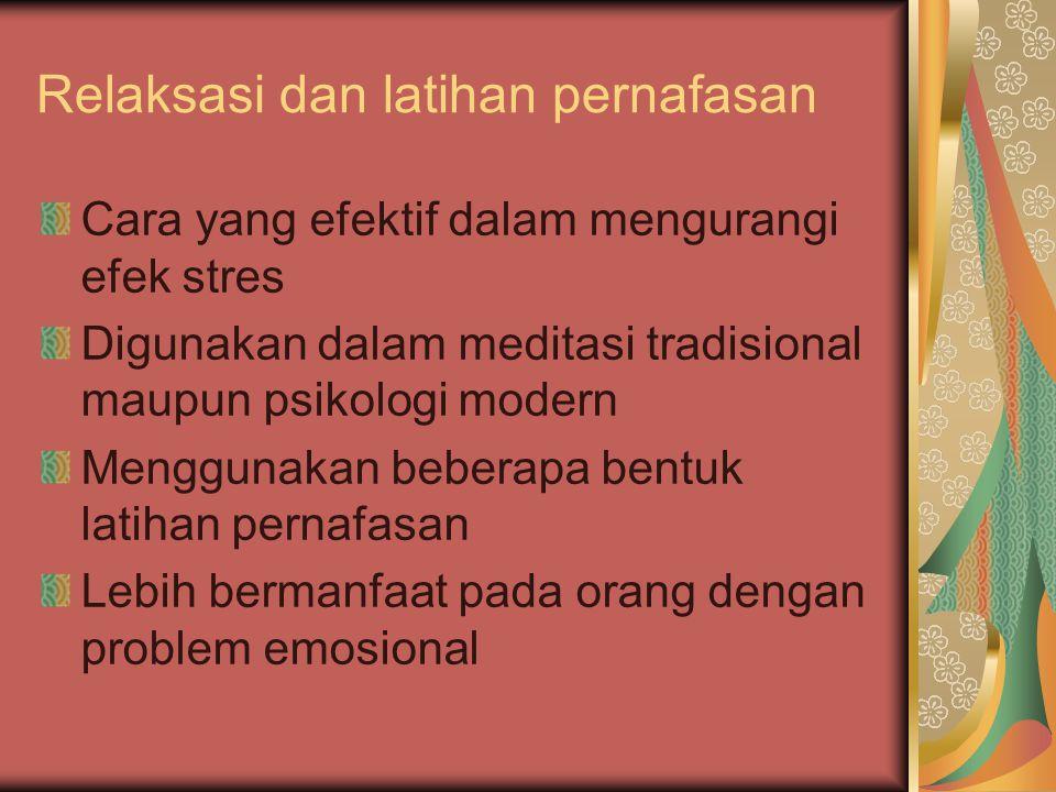 Relaksasi dan latihan pernafasan
