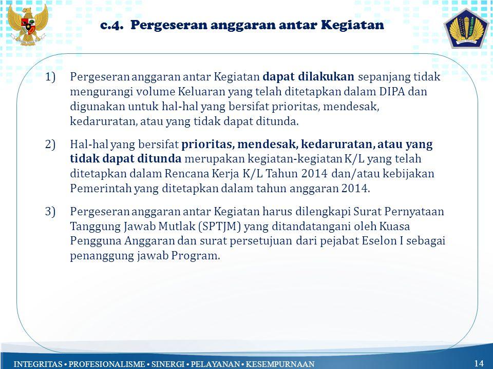 c.4. Pergeseran anggaran antar Kegiatan