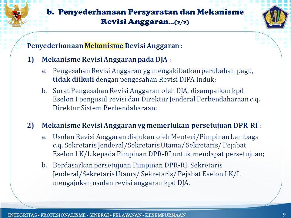 b. Penyederhanaan Persyaratan dan Mekanisme Revisi Anggaran...(2/2)