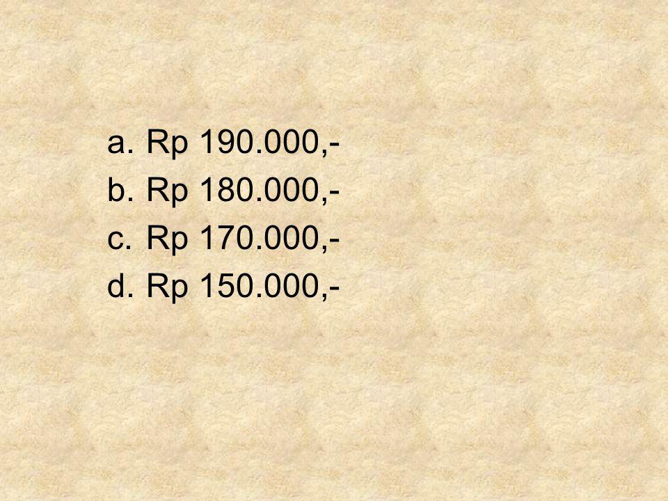 Rp 190.000,- Rp 180.000,- Rp 170.000,- Rp 150.000,-