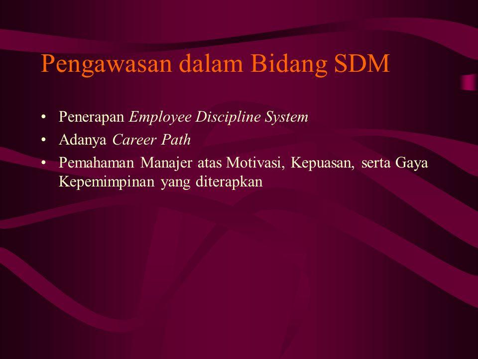 Pengawasan dalam Bidang SDM