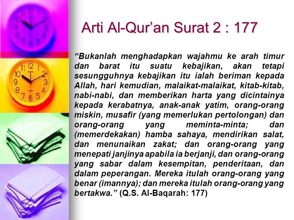 Arti Al-Qur'an Surat 2 : 177