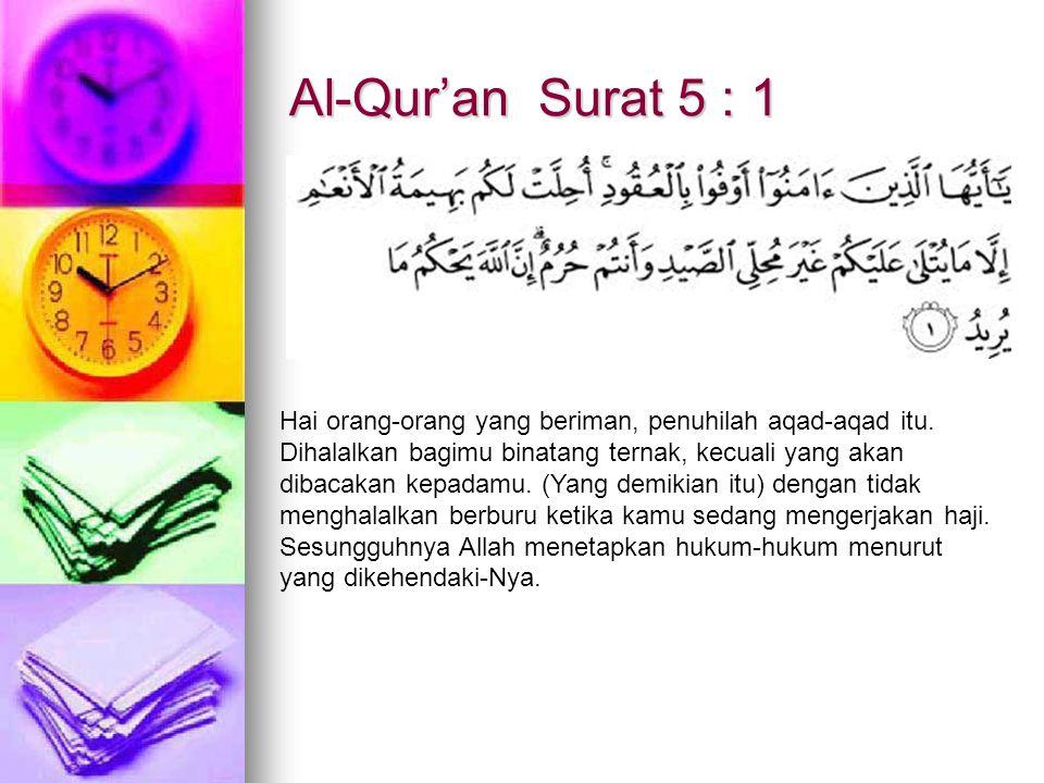 Al-Qur'an Surat 5 : 1