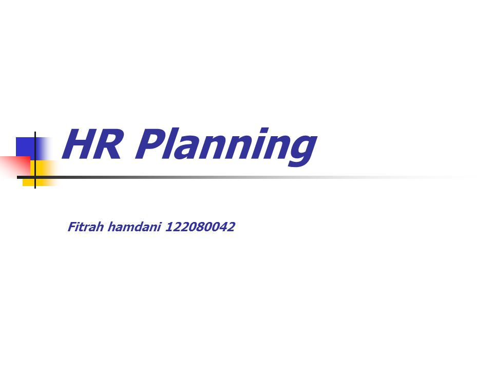 HR Planning Fitrah hamdani 122080042