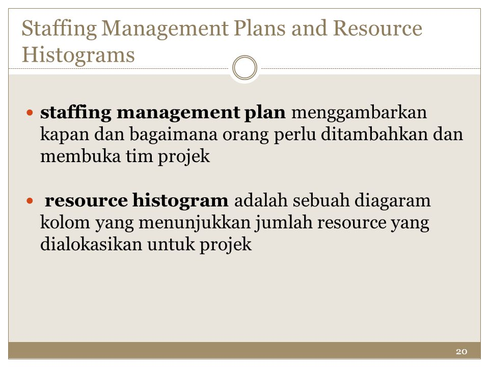 Staffing Management Plans and Resource Histograms