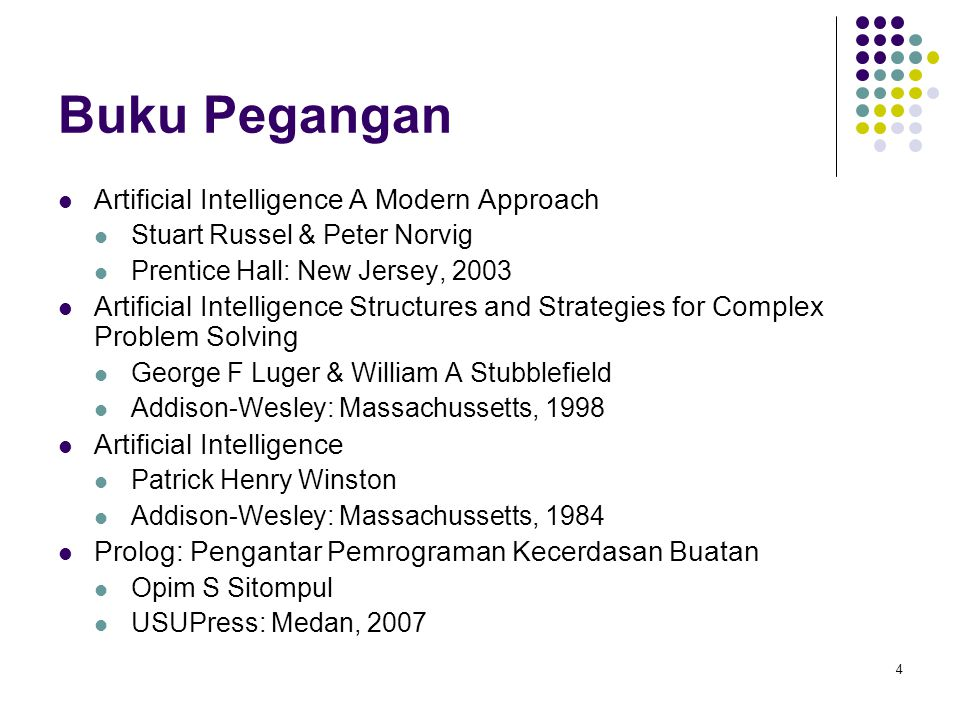 Buku Pegangan Artificial Intelligence A Modern Approach