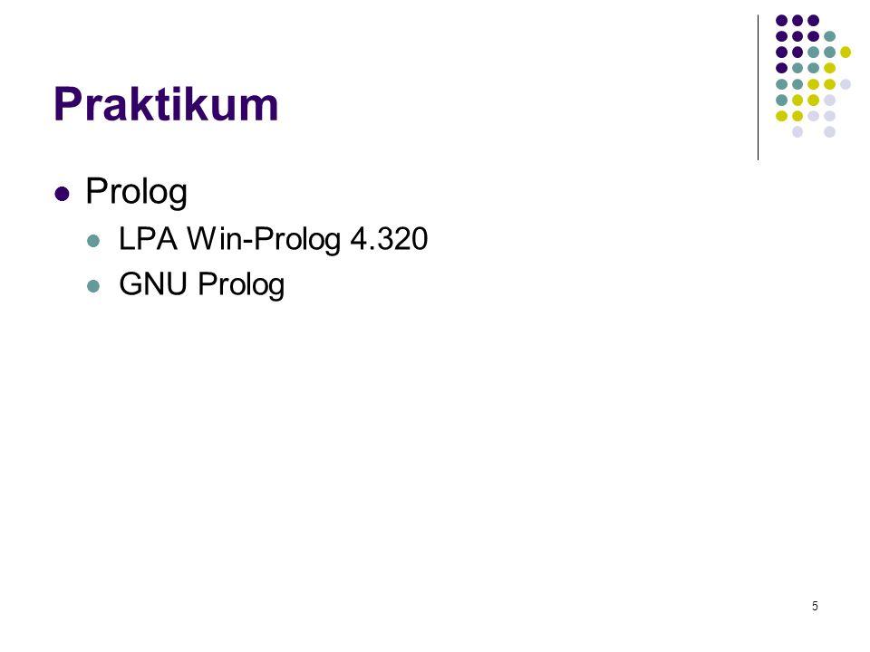 Praktikum Prolog LPA Win-Prolog 4.320 GNU Prolog