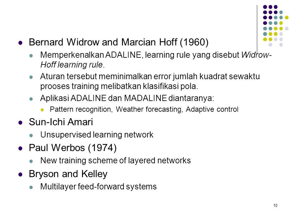 Bernard Widrow and Marcian Hoff (1960)