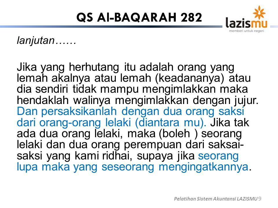 QS Al-BAQARAH 282 lanjutan……