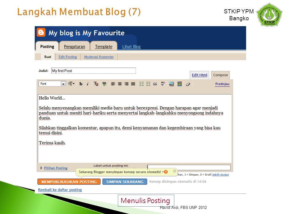 Langkah Membuat Blog (7)