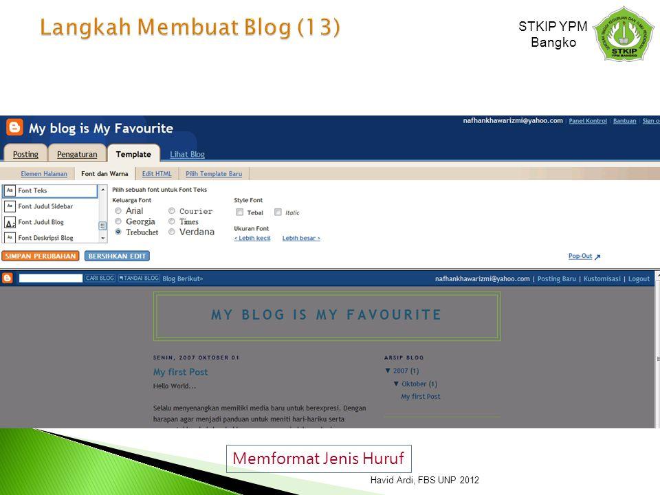 Langkah Membuat Blog (13)
