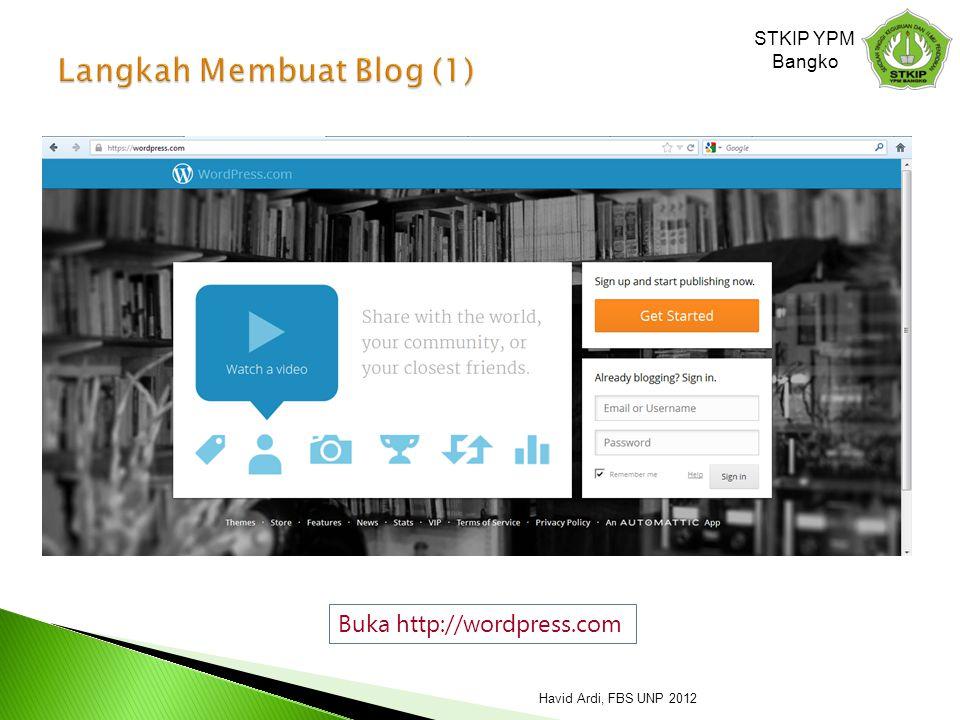 Langkah Membuat Blog (1)