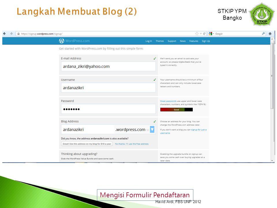 Langkah Membuat Blog (2)