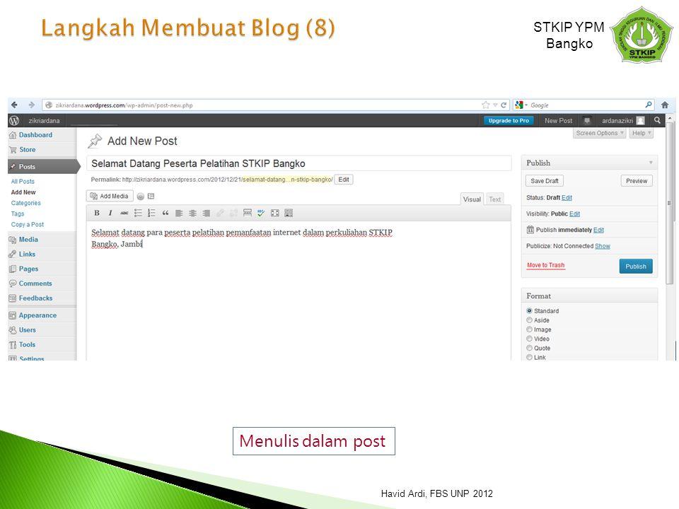 Langkah Membuat Blog (8)