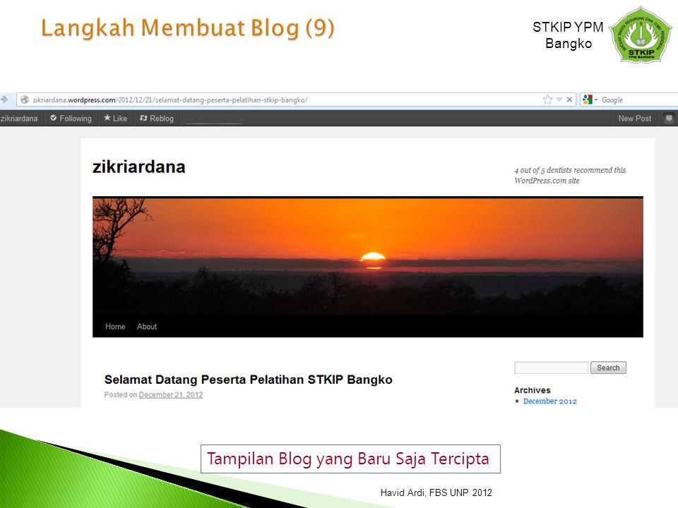 Langkah Membuat Blog (9)