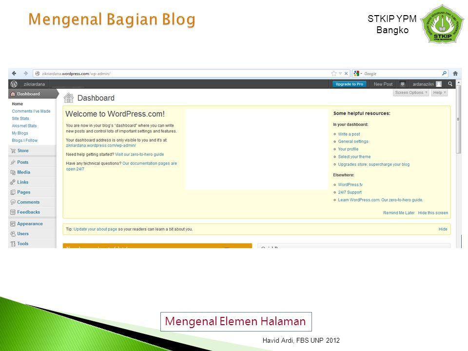 Mengenal Bagian Blog Mengenal Elemen Halaman STKIP YPM Bangko