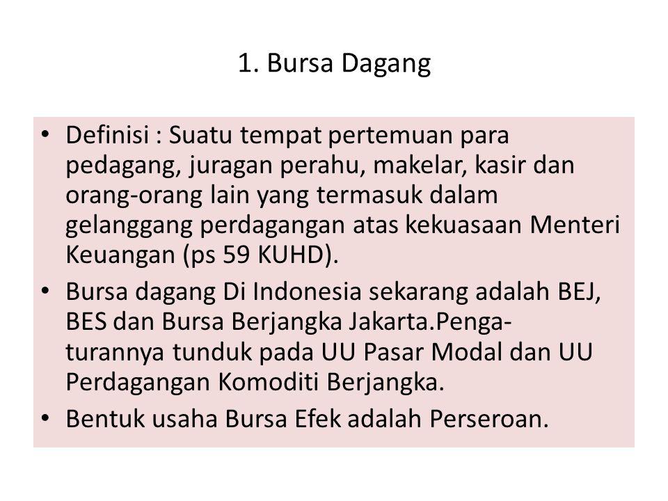 1. Bursa Dagang