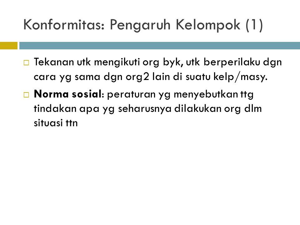 Konformitas: Pengaruh Kelompok (1)