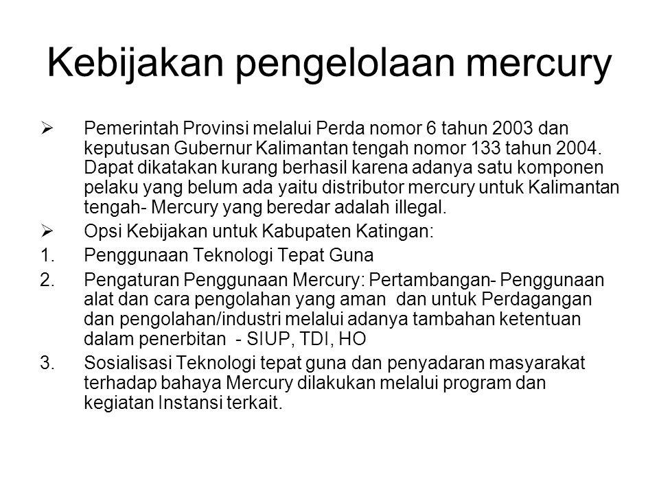 Kebijakan pengelolaan mercury