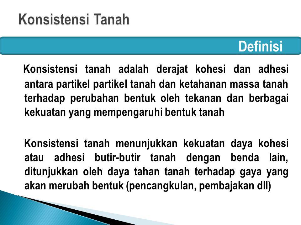 Konsistensi Tanah Definisi