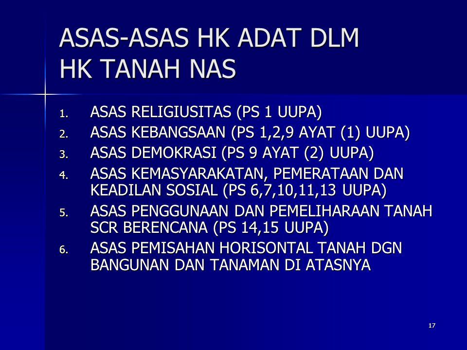 ASAS-ASAS HK ADAT DLM HK TANAH NAS