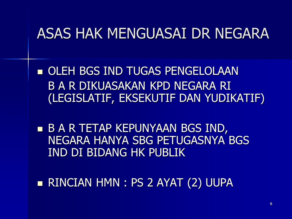 ASAS HAK MENGUASAI DR NEGARA