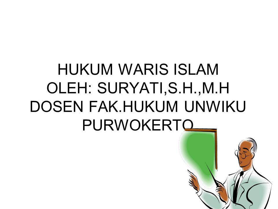 HUKUM WARIS ISLAM OLEH: SURYATI,S. H. ,M. H DOSEN FAK