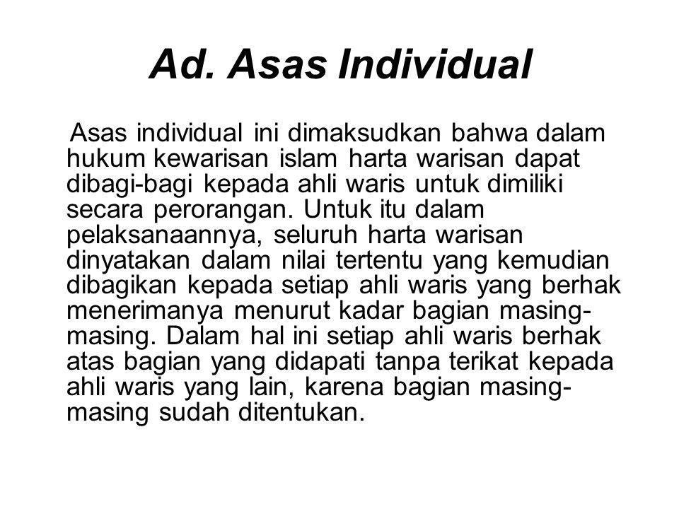 Ad. Asas Individual