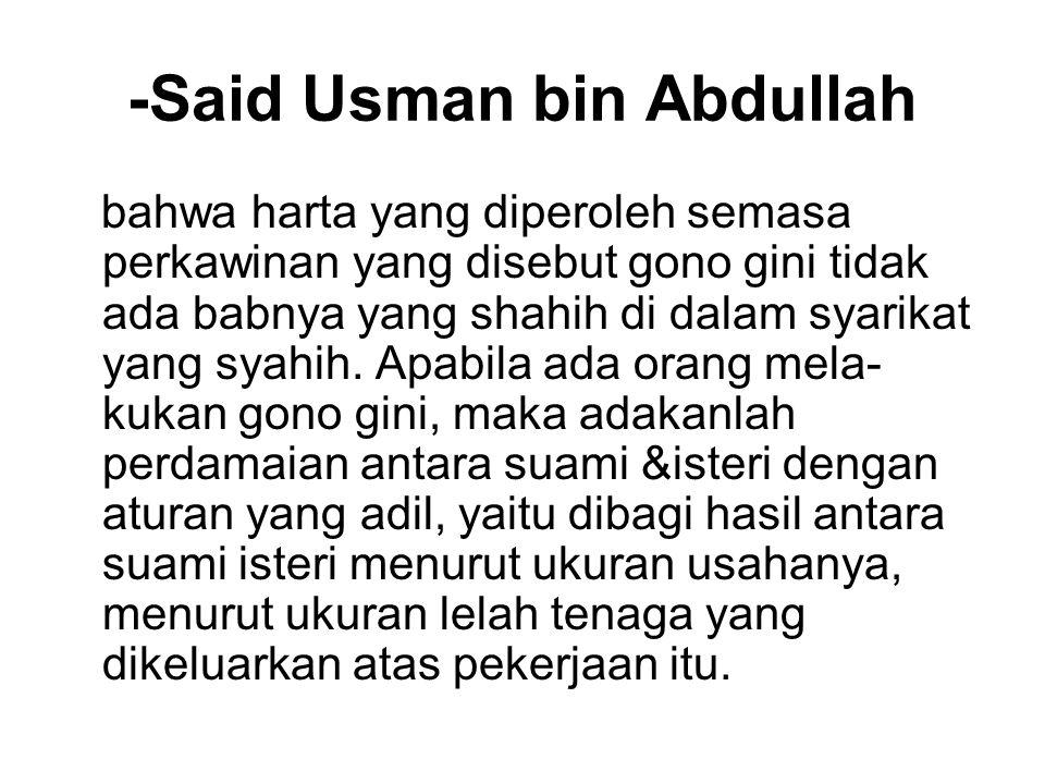 -Said Usman bin Abdullah