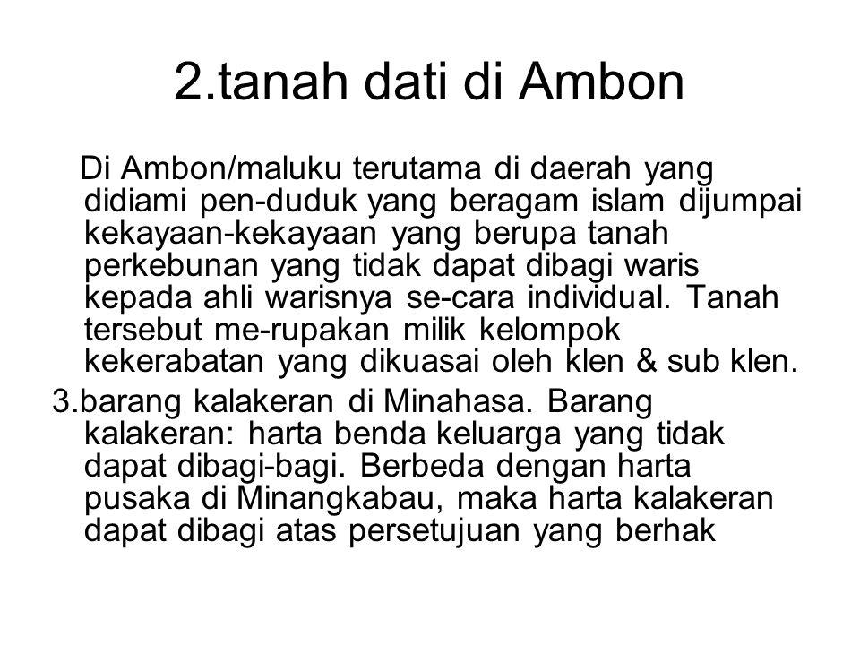 2.tanah dati di Ambon