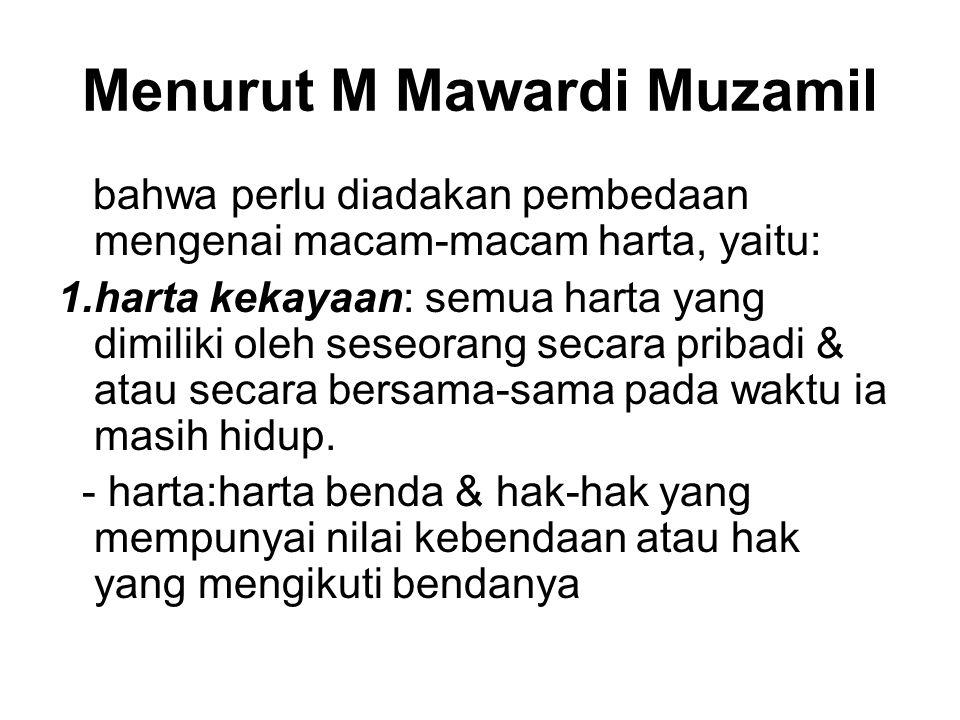 Menurut M Mawardi Muzamil