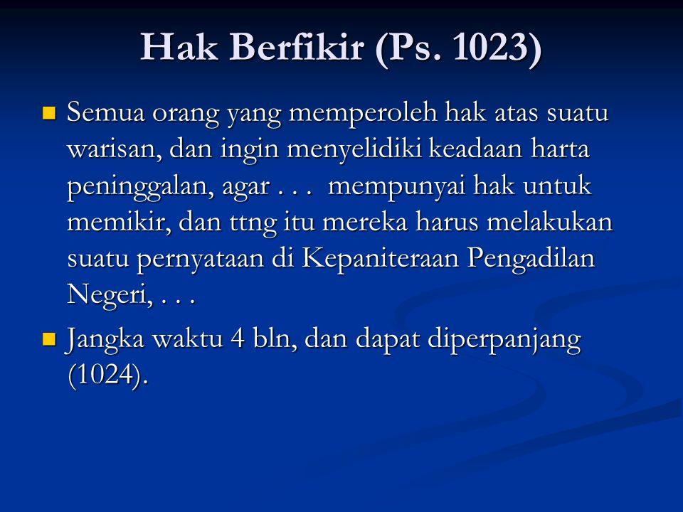 Hak Berfikir (Ps. 1023)