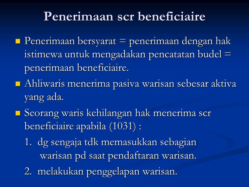 Penerimaan scr beneficiaire