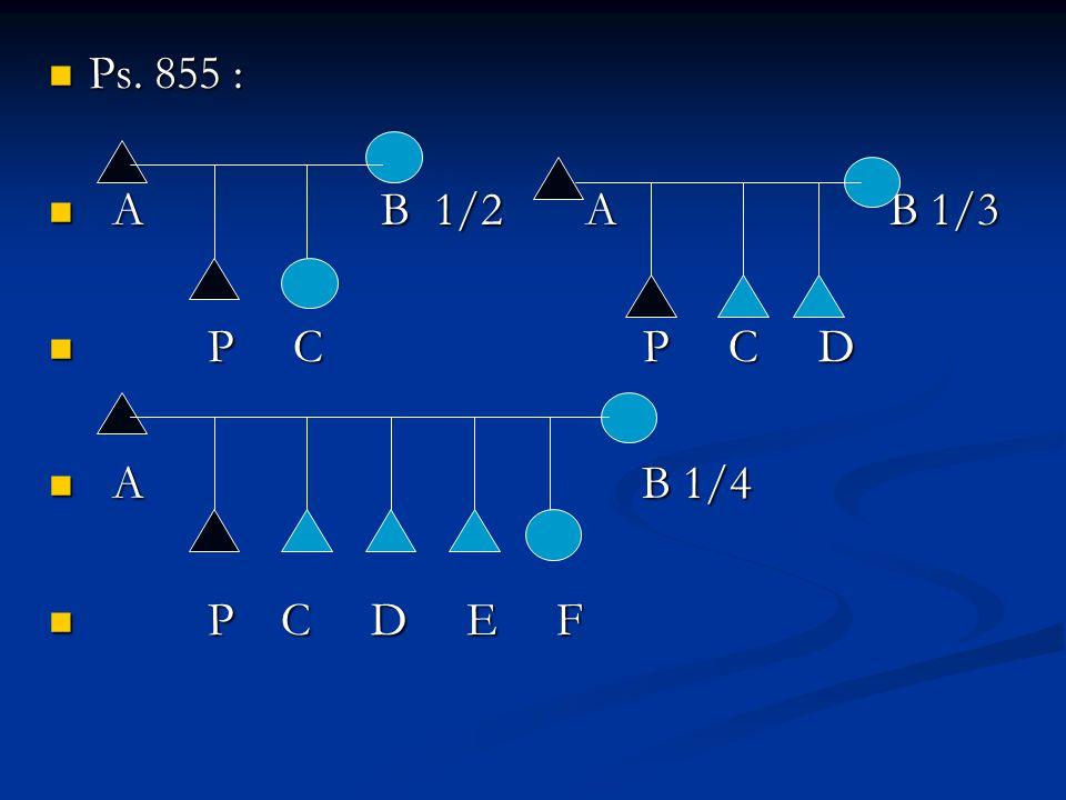 Ps. 855 : A B 1/2 A B 1/3. P C P C D.