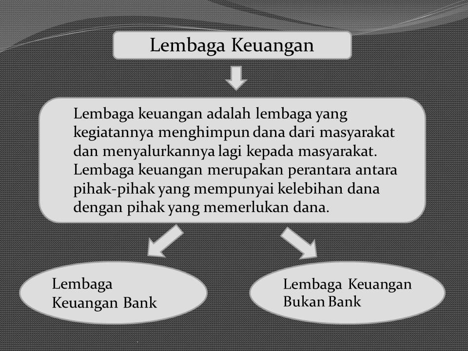 Lembaga Keuangan Lembaga Keuangan Bank Lembaga Keuangan Bukan Bank