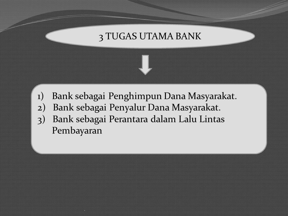 Bank sebagai Penghimpun Dana Masyarakat.