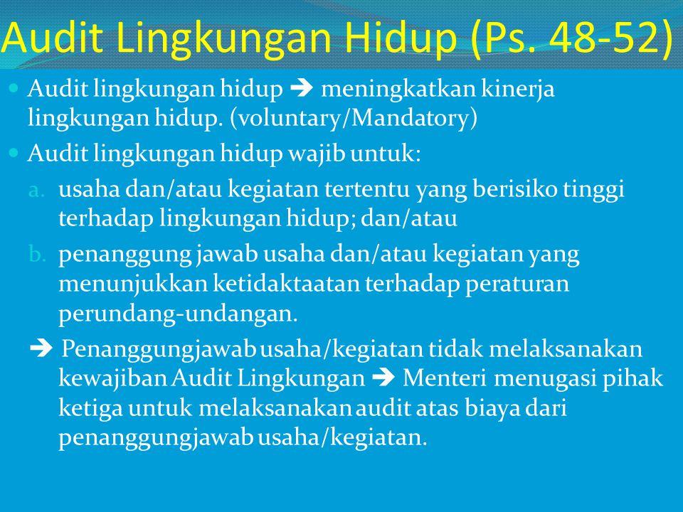 Audit Lingkungan Hidup (Ps. 48-52)