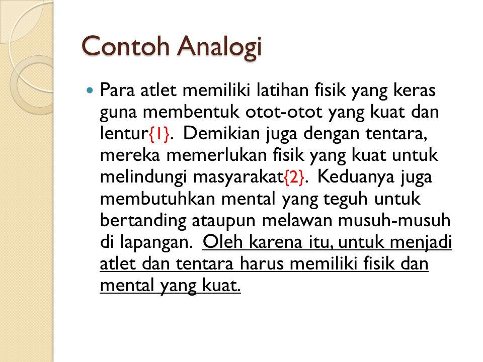 Contoh Analogi