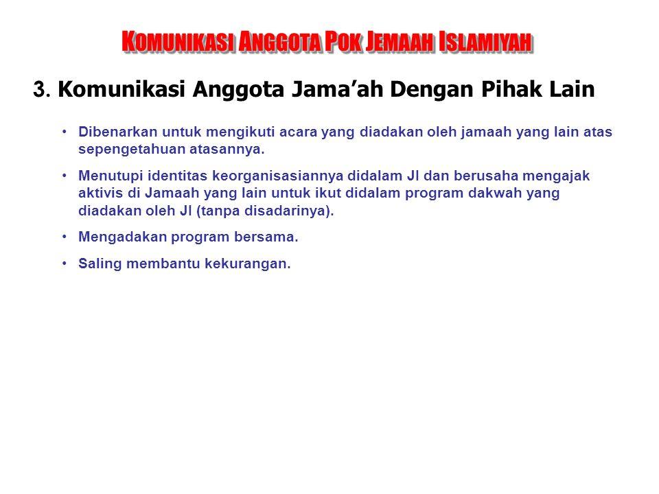 KOMUNIKASI ANGGOTA POK JEMAAH ISLAMIYAH