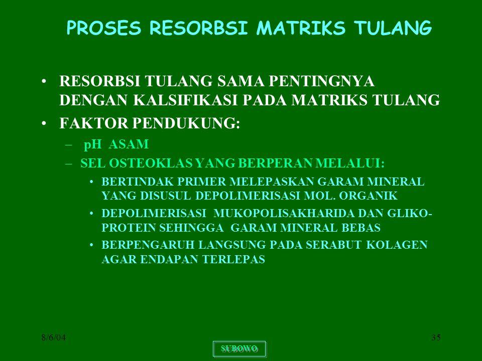PROSES RESORBSI MATRIKS TULANG