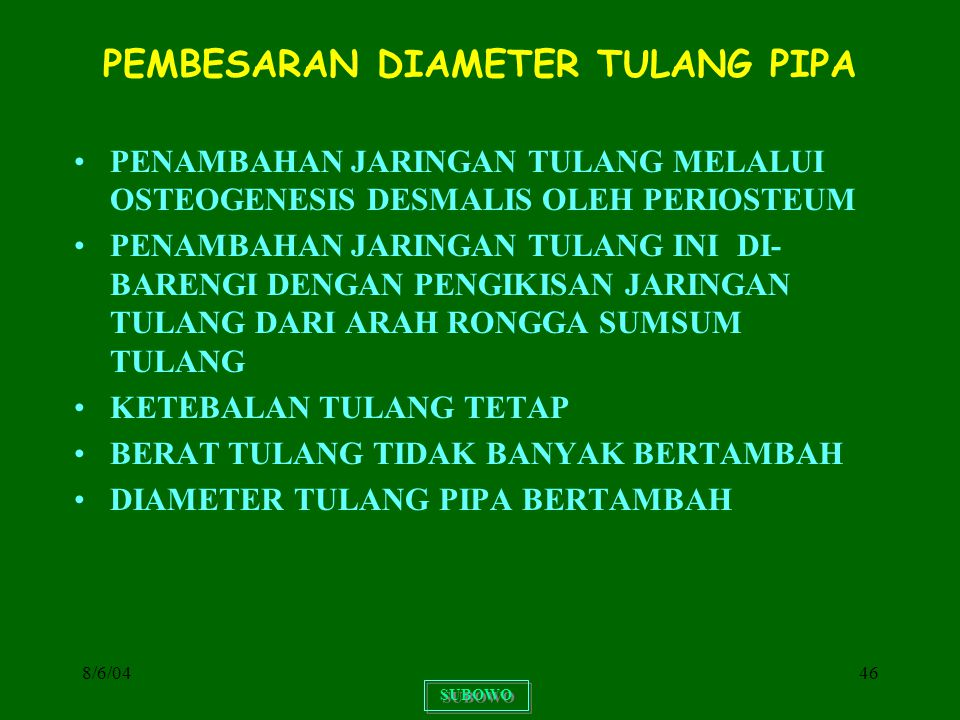 PEMBESARAN DIAMETER TULANG PIPA