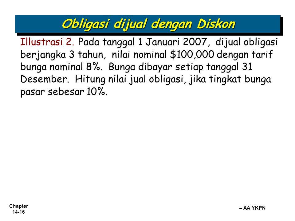 Obligasi dijual dengan Diskon