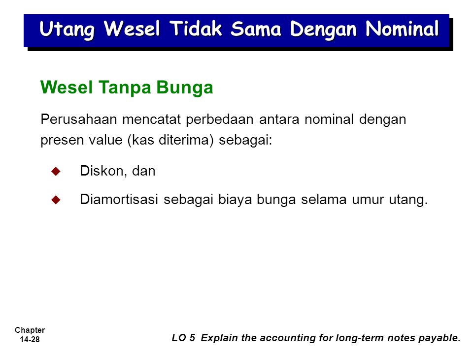 Utang Wesel Tidak Sama Dengan Nominal