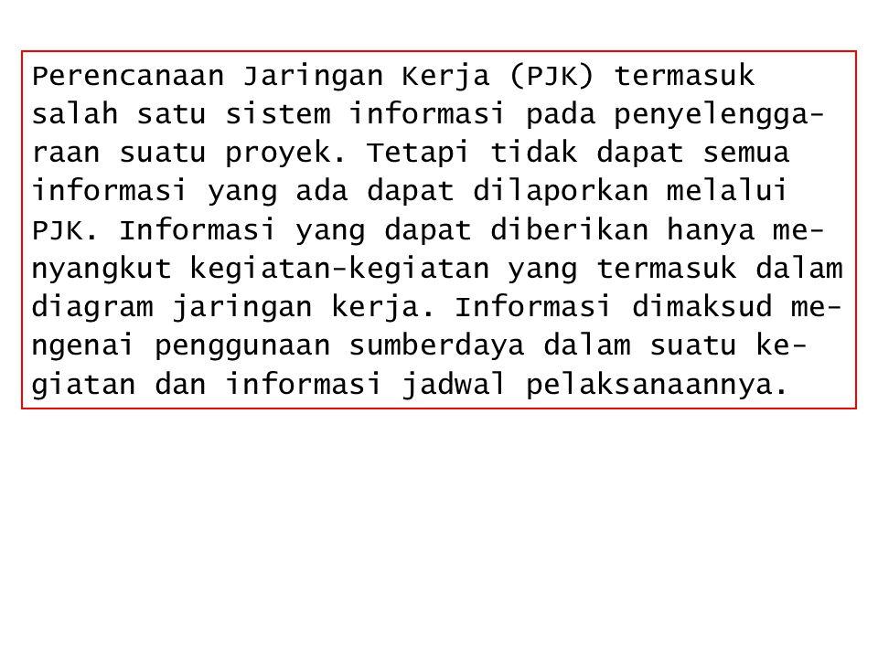 Perencanaan Jaringan Kerja (PJK) termasuk salah satu sistem informasi pada penyelengga-raan suatu proyek.