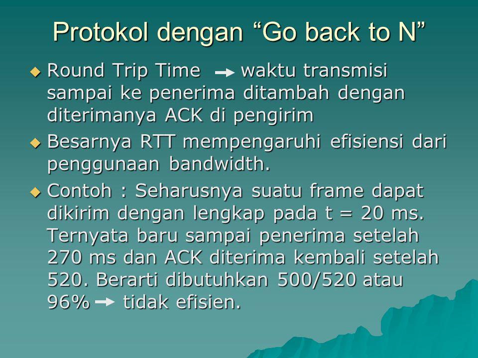 Protokol dengan Go back to N