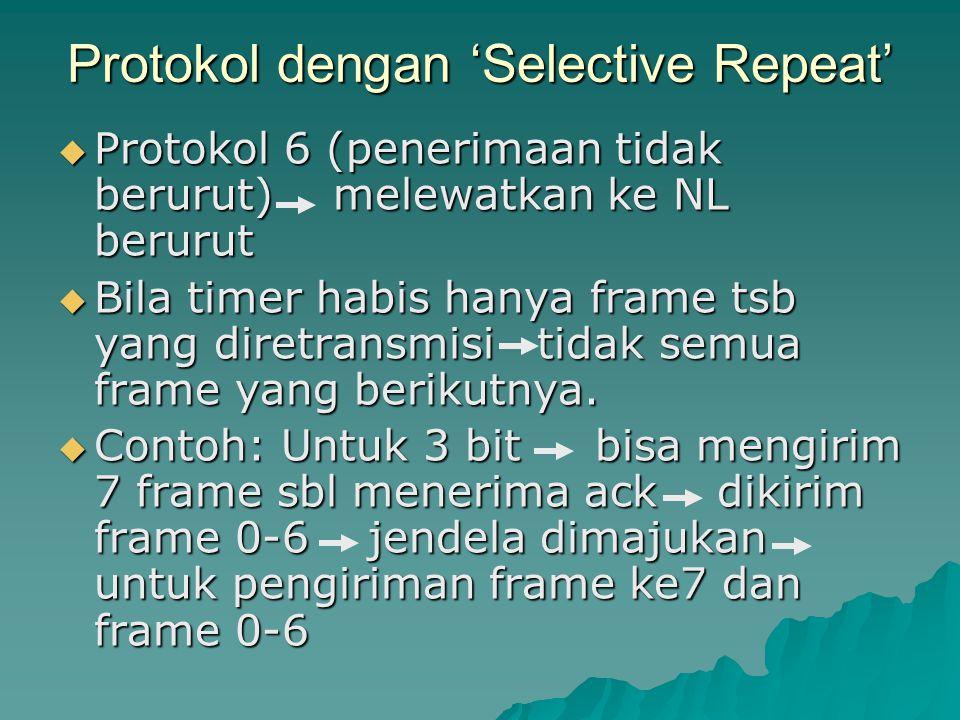 Protokol dengan 'Selective Repeat'