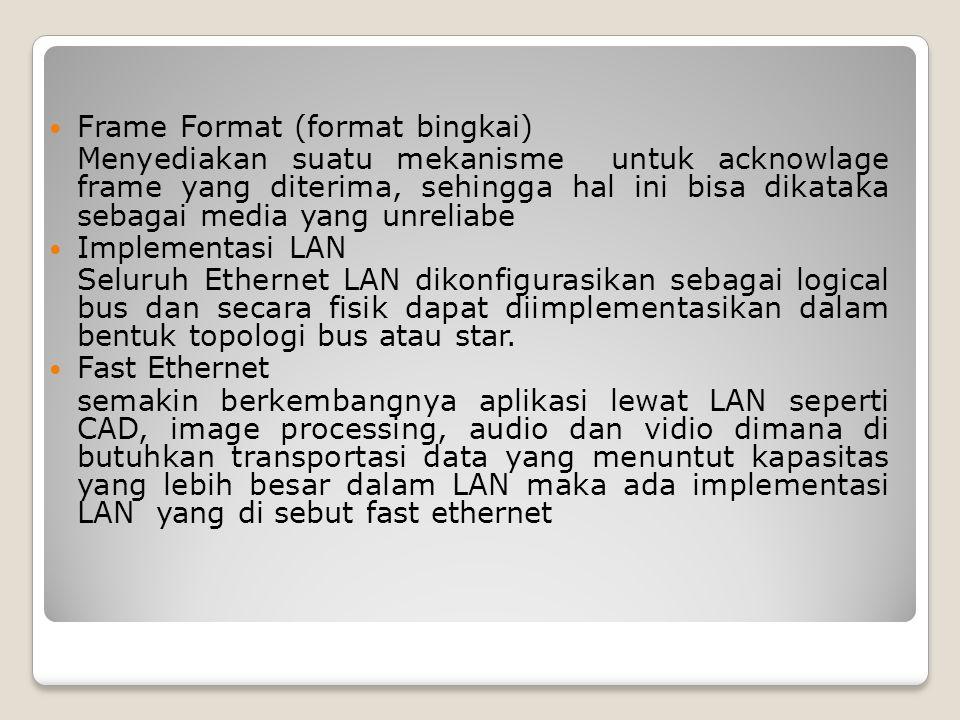 Frame Format (format bingkai)