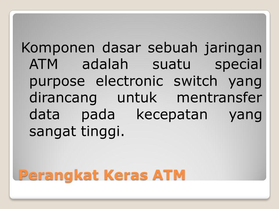 Komponen dasar sebuah jaringan ATM adalah suatu special purpose electronic switch yang dirancang untuk mentransfer data pada kecepatan yang sangat tinggi.