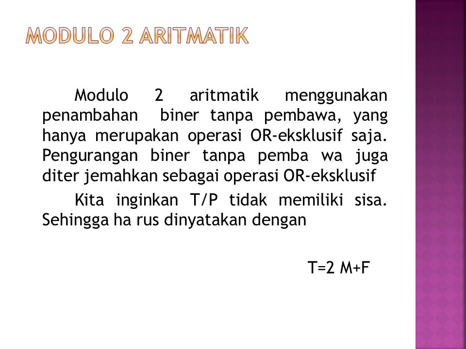 Modulo 2 Aritmatik